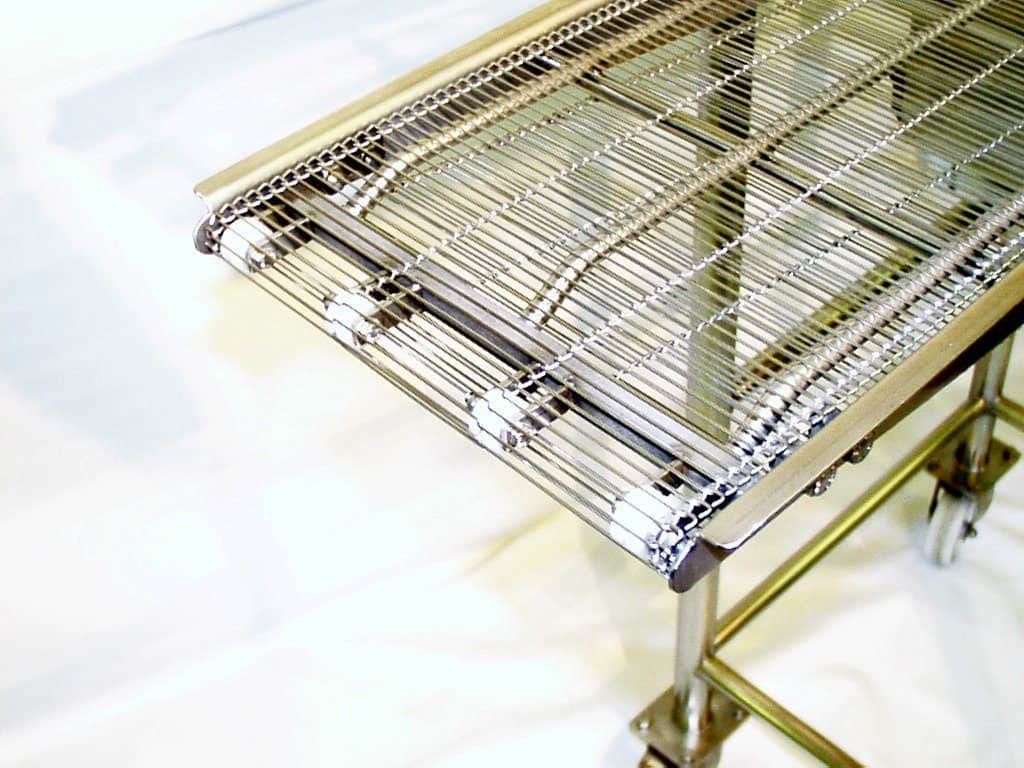 wire belt conveyors unitech conveyors. Black Bedroom Furniture Sets. Home Design Ideas